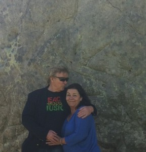 Peter & I at Avebury,the  most ancient standing stones in the world.